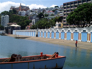 Wellington Harbour - Boatsheds. Image Robyn Moore