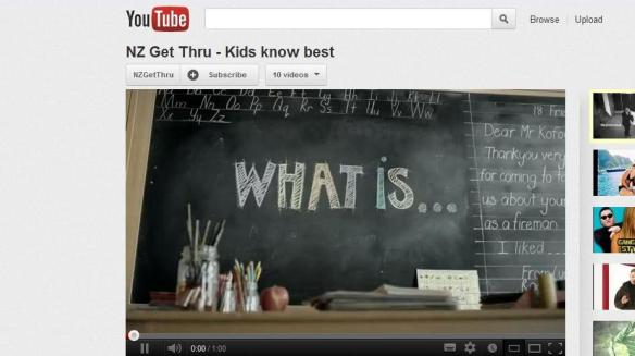 Kids know best video via Get Thru
